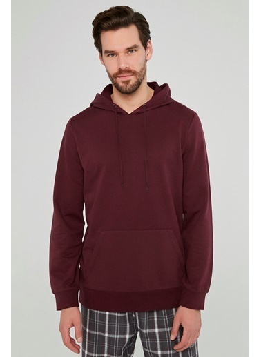 Penti Erkek Bordo Burgundy Hood Sweatshirt PHWG1TAR20SK Kırmızı